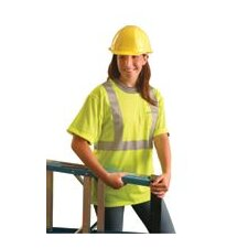 OccuLux® High Visibility Fluorescent Yellow Wicking Polyester Class 2 T-Shirt With 3M™ Scotchlite™ Reflective Tape