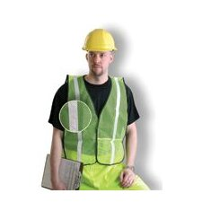 "Yellow Mesh Safety Vest With 1"" Silver Glossy Reflective Tape (Non ANSI Compliant)"