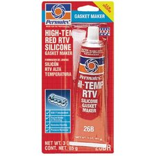 High-Temp Red RTV Silicone Gasket - #26 high-temp rtv silicone gasket maker 3 oz