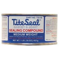 Tite Seal® Medium Weight Gasket & Joint Sealing Compounds - 1 lb med titeseal adhesive
