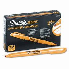 Accent Pocket Style Highlighter, Chisel Tip, 12/ Pack