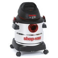 Stainless Steel Series 5 Gallon Wet Dry Vacuum Cleaner