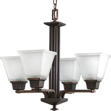 North Park Chandelier in Venetian Bronze