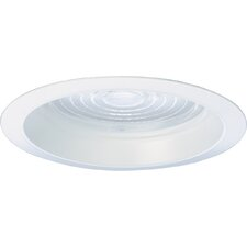 "6"" Recessed Trim with GLS Lens in White Frensel"