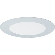 Flush Albalite Recessed Trim in White
