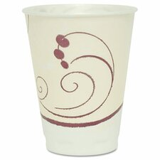 Company Symphony Design Trophy Foam Hot/Cold Drink Cups, 12 Oz, 100/Pack
