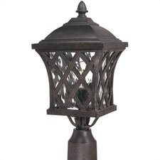 Lattice 1 Light Outdoor Post Lantern