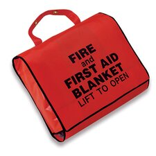 "62"" X 80"" 0.9 Lightweight Wool Fire And First Aid Blanket In A Case"