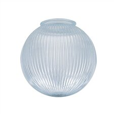 "4"" Ceiling Fan Fitter Clear Prismatic Ball Shade"