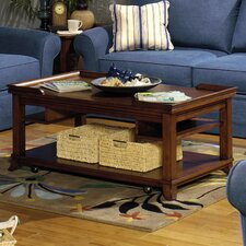 Castered Coffee Table with Storage Pockets