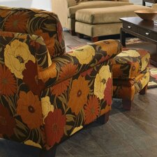 Hartwell Velvet Chair and Ottoman