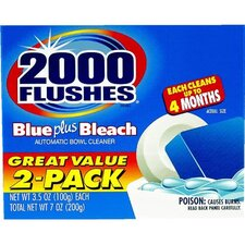 2000 Flushes Toilet Bowl Cleaner with Bleach (Set of 2)