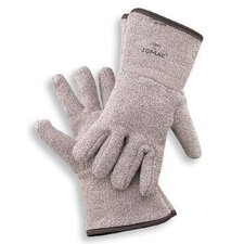 "X-Large Brown Jomac® Extra Heavy Weight Terry Cloth Unlined Reversible Ambidextrous Heat Resistant Gloves With 4 1/2"" Gauntlet Cuff"