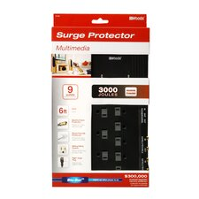 Multimedia 9-Outlet 3000-Joule Surge Protector