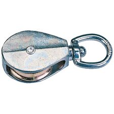 "Swivel Eye Rope Pulleys - 1-1/4"" swivel eye pulley/sgl"