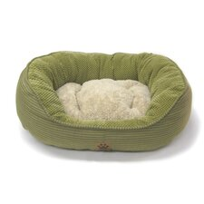 Pillow Soft Daydreamer Bolster Pet Bed in Green