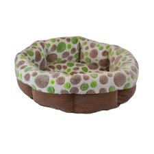 Cute as a Button Shearling Round Dog Bed
