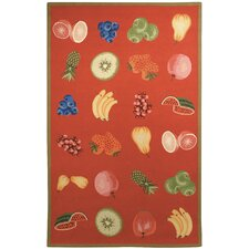 Chelsea Red Savoy Fruit Novelty Rug
