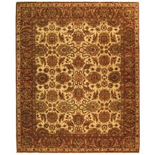 Old World Ivory/Rust Agra Rug