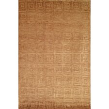 Tibetan Greek Key Camel Rug