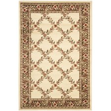 Lyndhurst Ivory/Brown Checked Rug
