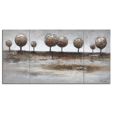 3 Panel Tree Landscape Painting