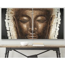 2 Panel Buddha Painting