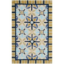 Four Seasons Tan / Blue Rug