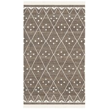 Natural Kilim Brown / Ivory Dhurrie Rug