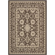 Courtyard Chocolate/Cream Rug