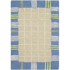 Kids Taupe/Blue Rug