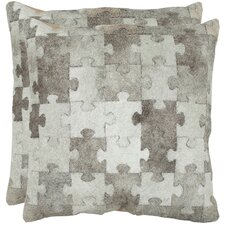 Mason Cowhide / Suede Backing Decorative Pillow (Set of 2)