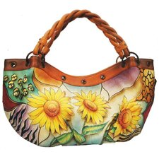 Braided Handbag in Sunflower Safari