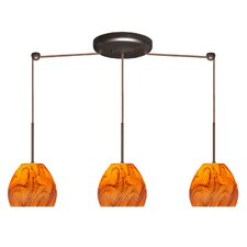 Bolla 3 Light Linear Mini Pendant
