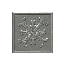 "Artistic Accent Statements Metal 2"" x 2"" Fiore Decorative Corner/Insert in Vintage Pewter"