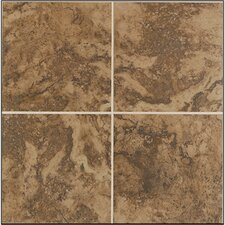 "Pavin Stone 12"" x 12"" Floor Tile in Brown Suede"