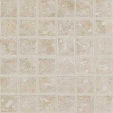 "Steppington 12"" x 12"" Mosaic Floor Tile in Provincial Pearl"