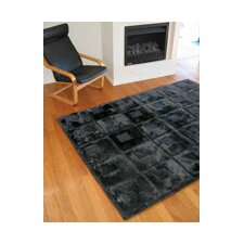 Shortwool Orbit Black Design Rug