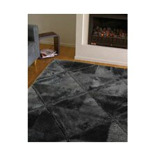 Shortwool Black Design Rug