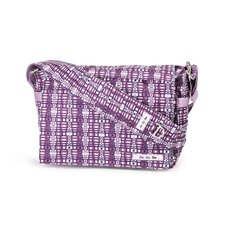 Be All Messenger Diaper Bag in Ju-Ju-Berry Squares