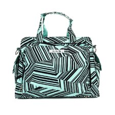 Be Prepared Messenger Diaper Bag in Mint Chip