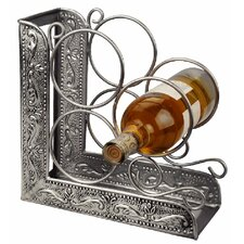 Victoria Embossed 3 Bottle Tabletop Wine Rack