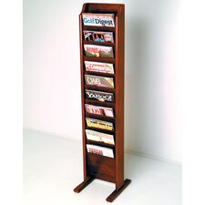 Free Standing Ten Pocket Magazine Rack