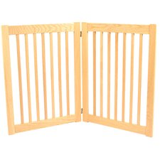 Legacy Outdoor Pet Gate in Solid White Oak