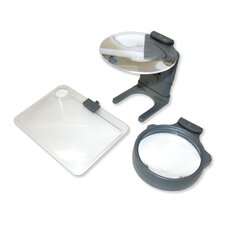 Hobby Hands Free Magnifier Set in Grey