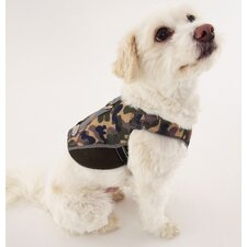 Dog Wear Reflective Mesh Vest Harness in Green Camo