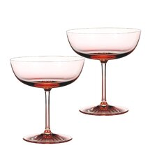 Blush Champagne Coupes Glass (Set of 2)
