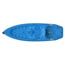 Lotus Kayak with Soft Back Rest and Paddle in Blue