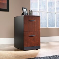 Via Two Drawer Pedestal in Classic Cherry