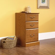 Orchard Hills Three Drawer Pedestal in Carolina Oak